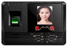科密DF330脸部+指纹+密码考勤机指纹人脸一体机语音提示打卡机