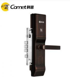 科密 K2指纹锁家用防盗门密码锁智能电子锁 咖古铜