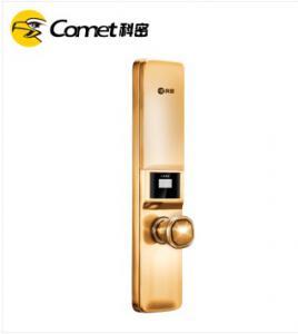 科密S1指纹锁 指纹锁家用防盗门密码锁智能电子锁 土豪金
